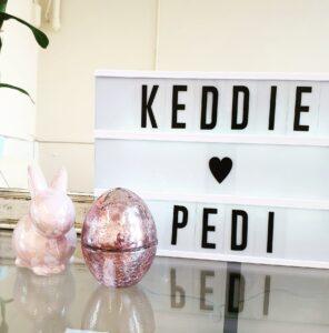 KeddiePedi - Welcome Sign